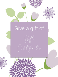 Gift Certificate and Card by Post