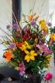 Mixed lily display